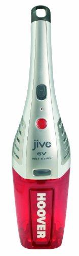 Hoover SJ60WWR6 Jive SJ60WWR6-Aspirador de Mano, Sólidos, Cabezal para rincones y líquidos, Peso 0,9Kg, Batería Nimh, 12min, Base de Carga y Anilla, 0.3 litros, 75 Decibelios, Plástico, Rojo