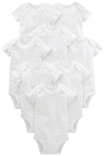 Simple Joys by Carter's Baby paquete de 8 body de manga corta ,Blanco ,24 Meses