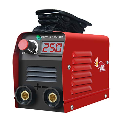 KKmoon Soldador Inverter Mini Máquina de Soldadura Eléctrica Portátil Equipos de Soldadura al Arco de Corriente 20-250A Equipo de Soldadura Digital IGBT con Pantalla LED