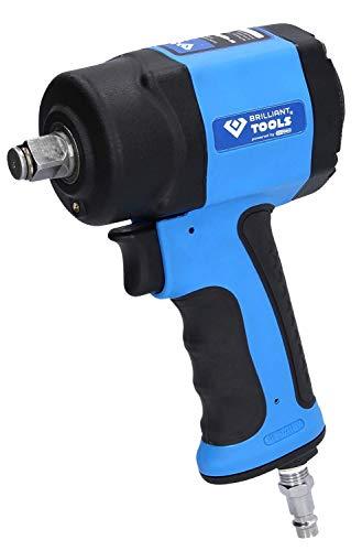 BRILLIANT TOOLS BT160400 KS Tools-Destornillador de Impacto de Aire comprimido, 1240 NM, 1/2 Zoll