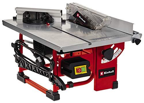 Einhell Sierra de mesa circular TC-TS 200 (máx. 800 W, motor de inducción de bajo mantenimiento, Ø200 x ø16 mm hoja, tope en ángulo (+/- 60°), hoja de la sierra puede inclinarse 45°)