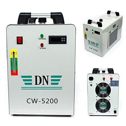Enfriador de agua industrial, herramienta de grabado, enfriador de agua industrial, chiller de CO2, tubo de grabado CW-5200, refrigerador de agua industrial, cortador de CO2, 0,6 kW