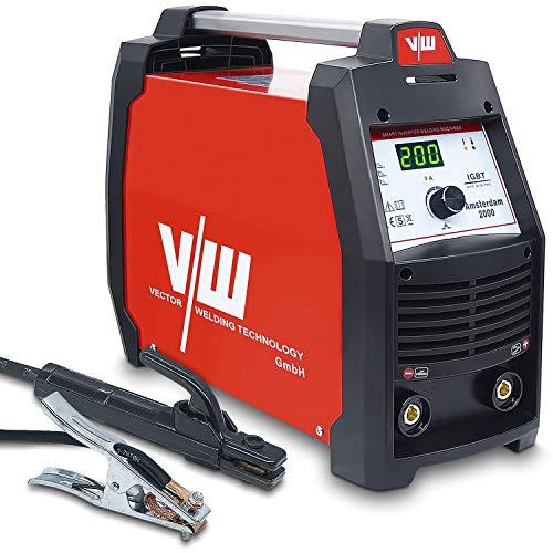 Vector Welding - Equipo de soldadura de electrodos con inversor de 200 amperios IGBT - MMA ARC - Mini Welder para soldadura de acero inoxidable