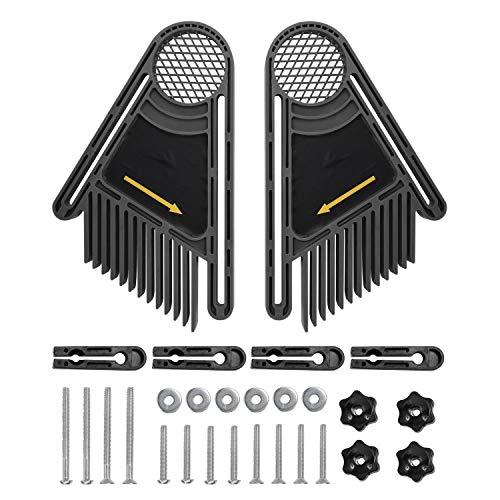 XuCesfs - Juego de 2 tablas de plumas para máquina de grabado inversa con piezas y accesorios para sierras circulares eléctricas y sierras de banda para madera (color: negro).