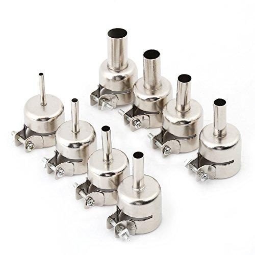 8 unids / set Kits de boquillas de pistola de calor para herramientas de reparación de estación de soldadura de pistola de aire caliente (3/4/5/6/7/8/10 / 12mm)